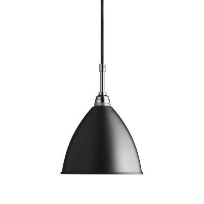 GUBI Bestlite BL9S - Hanglamp 16cm Zwart-Chroom