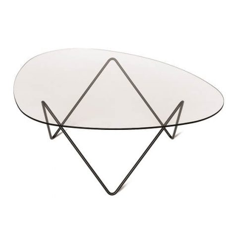 GUBI PEDRERA Salontafel glas_zwart frame