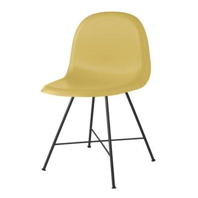 Gubi 1F Chair_Venetian Gold_Hirek_Black_Centerbase