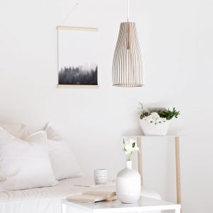 IUMI ENA Hanglamp berken fineer wit_wit