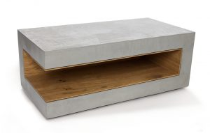 BETONEN ANGULUS - bijzettafel eiken_beton