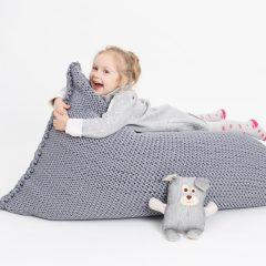 SANFATES BEANBAG KIDS - gehaakte zitzak voor kinderen - 100x70