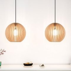 IUMI AION - Hanglamp berkenfineer naturel - zwart (3)