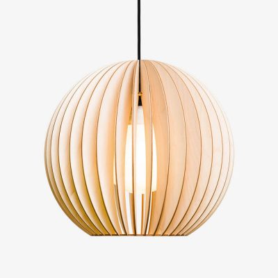 IUMI AION - Hanglamp berkenfineer naturel - zwart