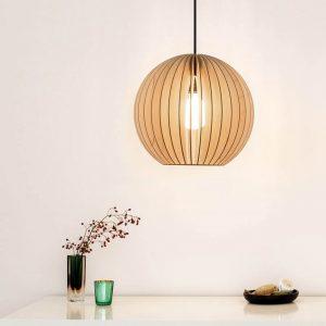 IUMI AION XL - Ronde houten hanglamp 48,5 x 45,5cm - NATUREL (1)
