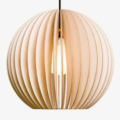 IUMI AION XL - Ronde houten hanglamp 48,5 x 45,5cm - NATUREL