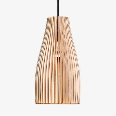 IUMI ENA L - Hanglamp berken fineer naturel-zwart