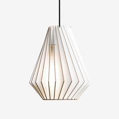 IUMI HEKTOR - Hanglamp berken fineer wit - zwart