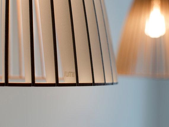 IUMI TEIA Hanglamp Berkenfineer wit-zwart
