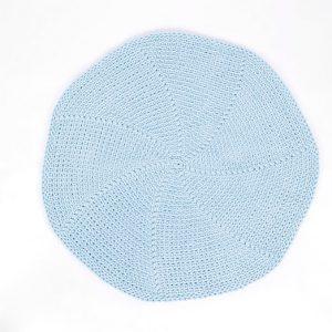 SANFATES LIT CARPET - Gehaakt vloerkleed 70cm Lichtblauw