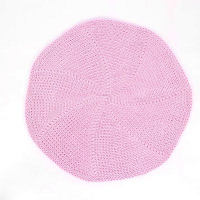 SANFATES LIT CARPET - Gehaakt vloerkleed 70cm Roze