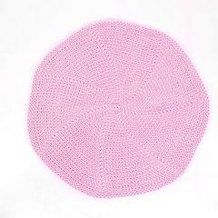 SANFATES LIT CARPET, gehaakt vloerkleed rond 70cm, roze