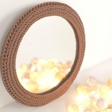 SANFATES MIRROR - Spiegel met gehaakte rand voor de kinderkamer - CACAO