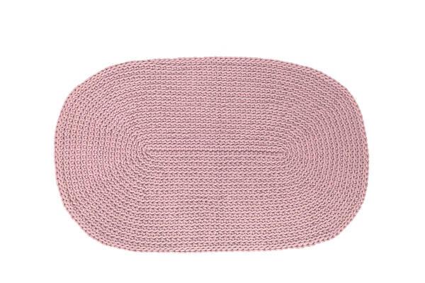 SANFATES RUG CARPET -gehaakt vloerkleed ovaal 100x60cm - CACAO