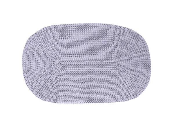 SANFATES RUG CARPET_gehaakt vloerkleed 100x60cm_grijs