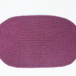 SANFATES RUG CARPET -gehaakt vloerkleed ovaal 100x60cm - PAARS