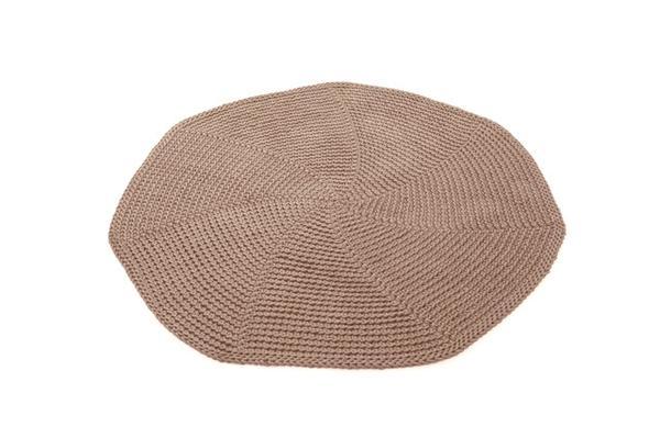 SANFATES SAU CARPET - rond gehaakt vloerkleed 100cm - CACAO