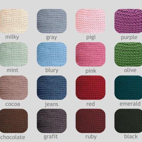 SANFATES SAU CARPET - rond gehaakt vloerkleed 100cm - kleuren