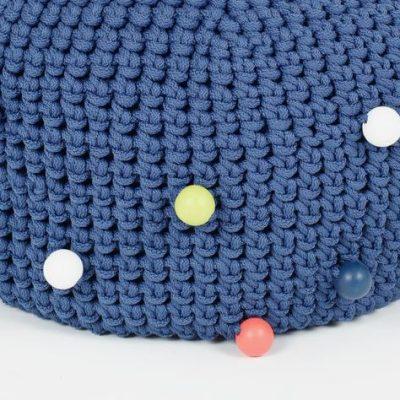 SanFates BUBBLE POUF JEANS_poef jeans blauw_40x20cm