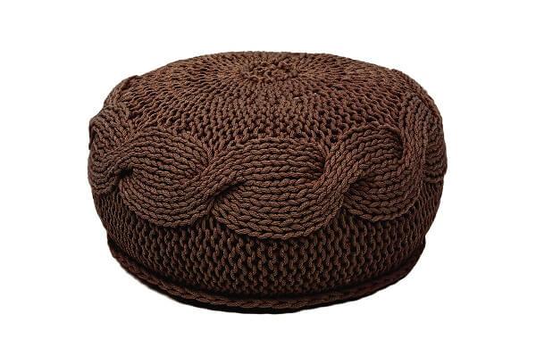 Sanfates sol gehaakte poef medium 45x20cm cool - Chocolade nachtkastje ...