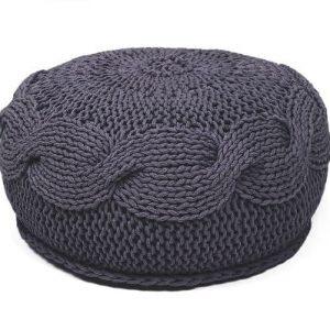 SanFates SOL - gehaakte ronde poef medium Ø45x20cm Grafiet grijs. De gehaakte ronde poef SOL, is leuk voor in de woonkamer, slaapkamer, kinderkamer en is verkrijgbaar in 16 kleuren. Deze poef heeft een zeer mooie en iets ruwe textuur, een vrolijke uitstraling en is erg aangenaam om op te zitten.