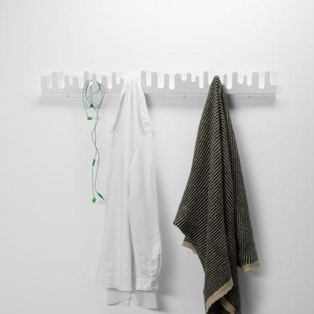 DESIGN HOUSE STOCKHOLM - WAVE wand kapstok kledinghanger WIT