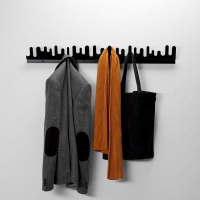 DESIGN HOUSE STOCKHOLM - WAVE wand kapstok kledinghanger ZWART