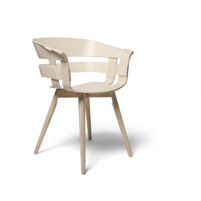 DESIGN HOUSE STOCKHOLM - WICK Armstoel met houten poten - essen (1)