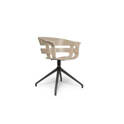 DESIGN HOUSE STOCKHOLM - WICK armstoel bureaustoel - draaipoot donkergrijs (1)