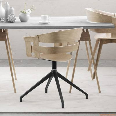 DESIGN HOUSE STOCKHOLM - WICK armstoel bureaustoel - draaipoot donkergrijs (3)