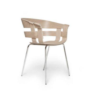 Design House Stockholm - WICK armstoel met metalen poten - CHROOM (1)