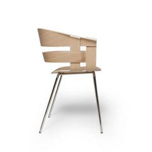 Design House Stockholm - WICK armstoel met metalen poten - CHROOM (2)