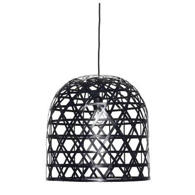 HUBSCH INTERIOR - Bamboe hanglampen zwart, Ø45x45 en Ø42x60cm Fraaie, sfeervolle bamboe hanglampen, lekker groot en oversized. Je maakt echt een mooi statement als je er twee boven de eetkamertafel hangt.