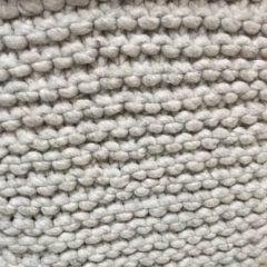 Hubsch Interior – POEF van wol, lichtgrijs 45x45x45cm