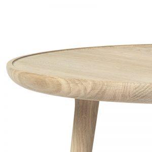 Mater Design ACCENT - ronde eiken bijzettafel, mat gelakt (1)