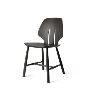 Mater Design eetkamerstoel J67 zwart eiken – Deense Design Klassiekers - GRIJS (2)