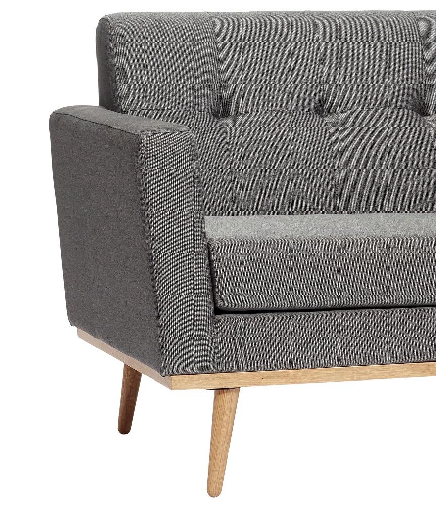 hubsch interior donkergrijze 2 zitsbank. Black Bedroom Furniture Sets. Home Design Ideas
