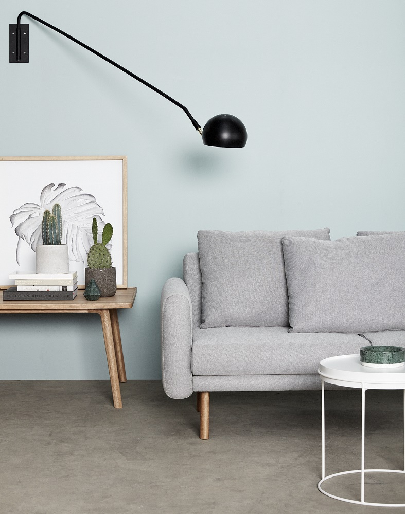 hubsch interior lichtgrijze 2 zitsbank. Black Bedroom Furniture Sets. Home Design Ideas