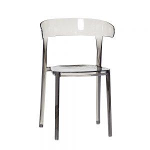 HUBSCH INTERIOR - Kunststof eetkamerstoel grijs plastic (970402)