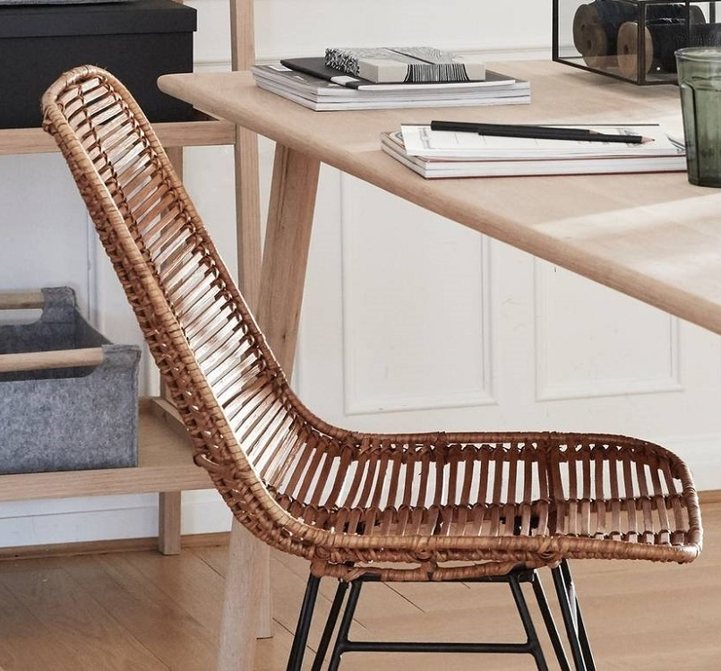 hubsch interior eetkamerstoel naturel rotan. Black Bedroom Furniture Sets. Home Design Ideas