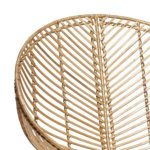 HUBSCH INTERIOR - Rotan loungestoel rond naturel-metaal -118015 (2)