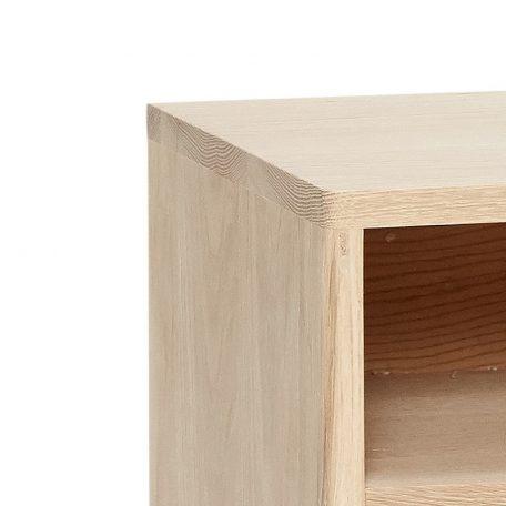 Hubsch Interior – Kastje, nachtkastje naturel eiken 40x35xh60 - (880308)