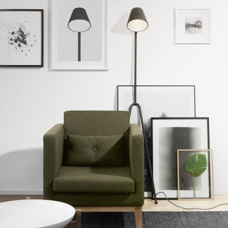 DESIGN HOUSE STOCKHOLM - MANANA Vloerlamp donkergrijs