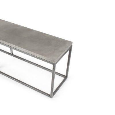 LYON BETON PERSPECTIVE BENCH - Bankje van beton en staal
