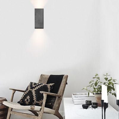 GANTlights B8 - Wandlamp van beton donkergrijs (1)