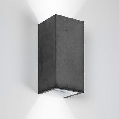 GANTlights B8 - Wandlamp van beton donkergrijs - ZILVER