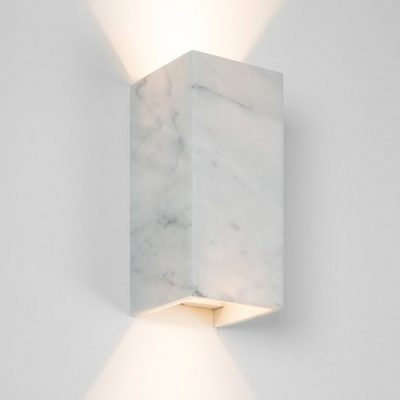 GANTlights B8 - wandlamp van Wit Marmer - CARRARA