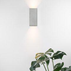 GANTlights B8 wandlamp van beton Lichtgrijs
