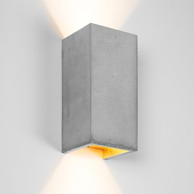 GANTlights B8 wandlamp van beton Lichtgrijs - GOUD