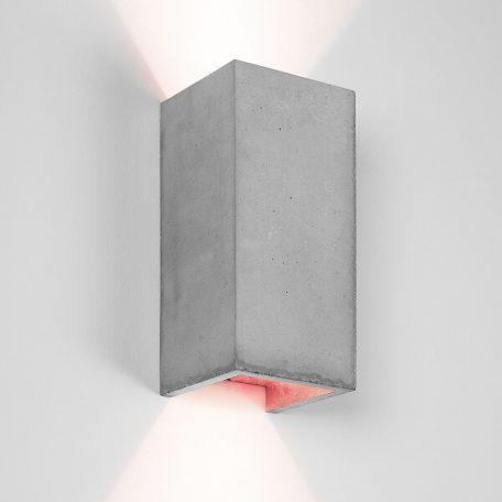 GANTlights B8 wandlamp van beton Lichtgrijs - KOPER